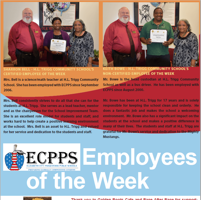 Septempter 18 Employees of the Week